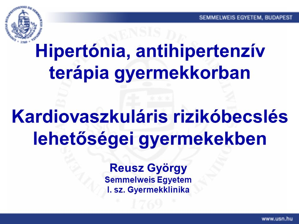 A hipertónia mint kardiovaszkuláris kockázati tényező