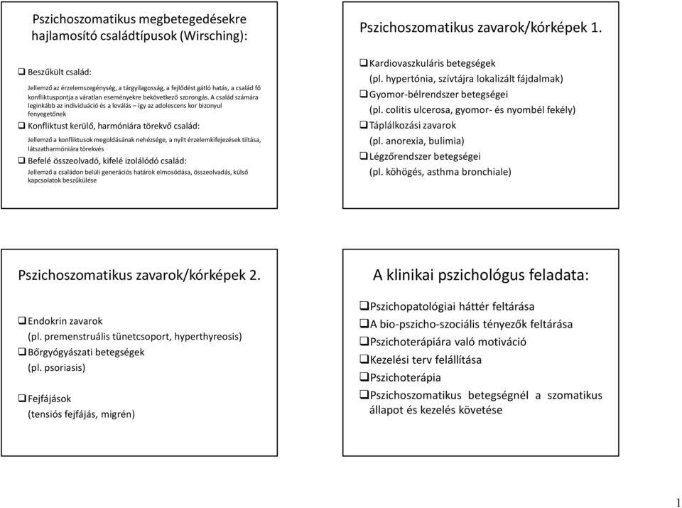 Pszichoszomatikus betegségek | Pszichológus kereső
