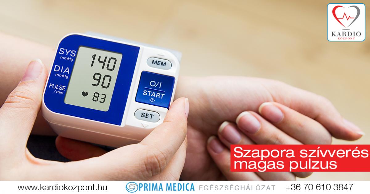 magas vérnyomás 100 ütés / perc
