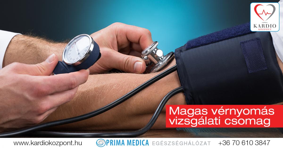 magas vérnyomás vizsgálati standardja