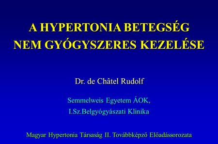 klinikai hipertónia mi a magas vérnyomás, mint az emberre veszélyes