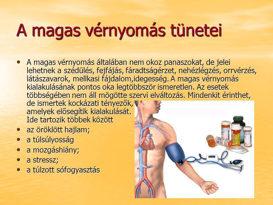 magas vérnyomás tünetek klinikán